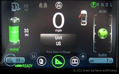 Chevy Volt Speedometer