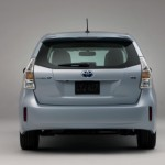 Unlike the Prius, the Prius v has a one-piece rear window.