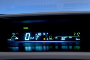 Prius v gauge display.