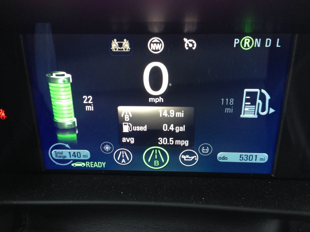 Chevy Volt Full Charge at 32 Degrees