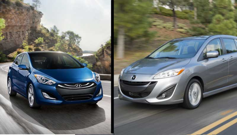 The Elantra GT and the Mazda 5 – Two Small Wagons