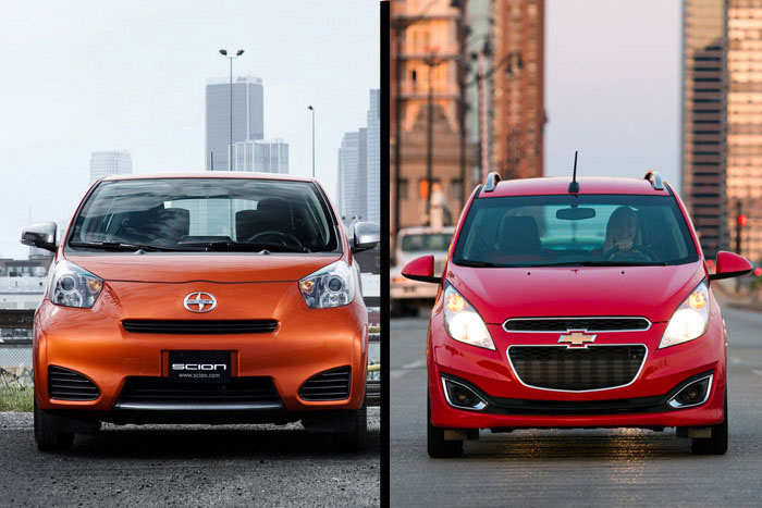 Two Very Small Cars – The Chevy Spark and The Scion iQ
